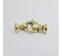 Fermoir Mousqueton Collier de Perles 11 mm Or Jaune