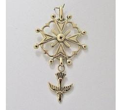 Croix Huguenote Or Jaune