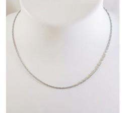 Collier Maille Singapour Or Blanc