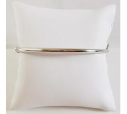 Bracelet Jonc Ouvrant Or Blanc 750 (18 carats)