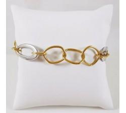 Bracelet Maille Fantaisie Bicolore