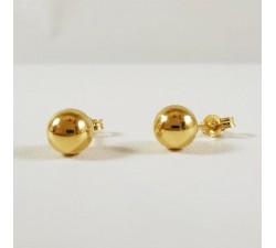 Boucles d'Oreilles Puces Boule Or jaune