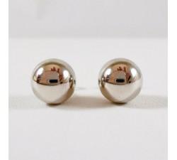 Boucles d'Oreilles Puces Or Blanc 750 (18 carats)