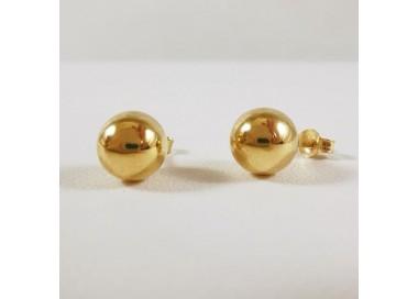 Boucles d'Oreilles Boule Or Jaune 750 (18 carats)