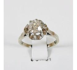 Solitaire Diamant Or Blanc (Bijou Ancien)