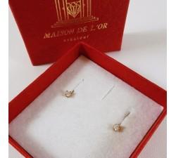 Boucles d'oreilles Puces Diamants 2 x 0.04ct Or Jaune (Bijou Occasion)