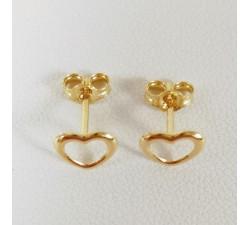 Boucles d'Oreilles Coeur Or Jaune