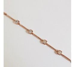 Bracelet Argent Plaqué Or Rose