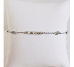 Bracelet Oxydes de Zirconium et Perles Argent
