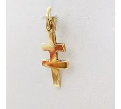Pendentif Croix de Lorraine Or Jaune