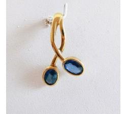 Pendentif Saphir Or Jaune 750 - 18 carats (Bijou d'Occasion)