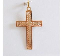 Croix Or Jaune (Bijou Ancien)