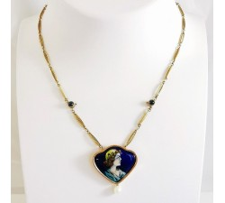 Collier centre Or Jaune (Bijou Ancien)