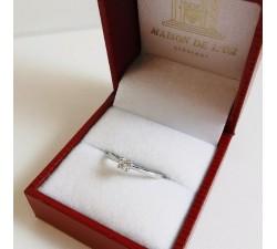 Bague Solitaire Diamant 0.08ct Or Blanc