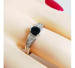 Bague Saphir et Diamants Or Blanc