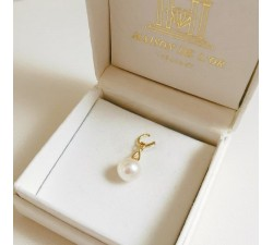 Pendentif Perle et Diamant Or Jaune