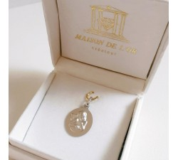 Médaille Ange Or Blanc