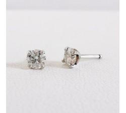Boucles d'Oreilles Puces Diamants 2 x 0.21ct Or Blanc