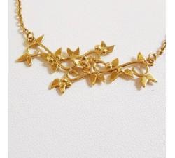 Collier Fleurs Arabesques Or Jaune