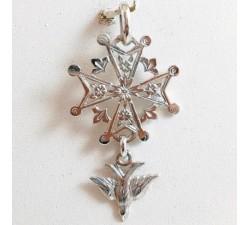 Croix Huguenote Or Blanc 18 carats