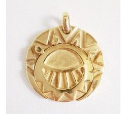 Pendentif Médaillon Les Mystérieuses Cités d Or.  The mysterious cities of Gold