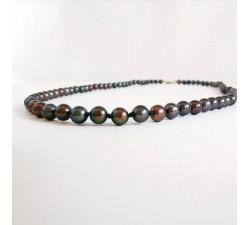 Collier de Perles de Culture Noires du Japon