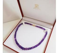 Collier de Perles Améthyste Facettées
