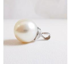Pendentif Perle d'Australie Or Blanc