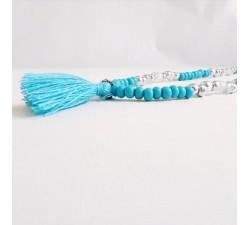 Collier Perles et Pompon