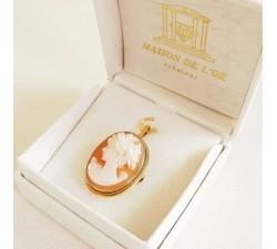 Broche Pendentif Camée Or Jaune 750 - 18 carats (Bijou Occasion)