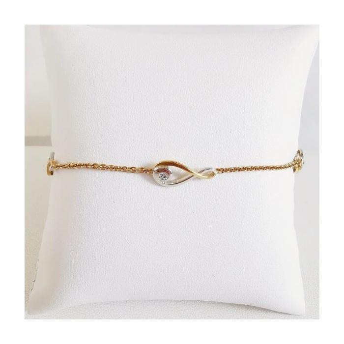 Bracelet Infini Bicolore Plaqué Or