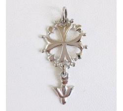 Croix Huguenote Design Original Argent