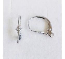 Brisures d'Oreilles Petit Modèle Or Blanc (La Paire)