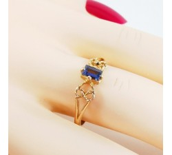 Bague Iolite Or Rose
