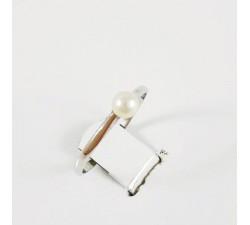 Bague Perle 3.5 mm Or Blanc