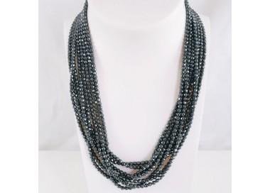 Collier Multi Rangs Perles Facettées