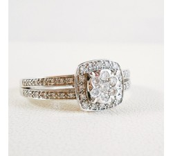 Bague Pavée de Diamants Or Blanc