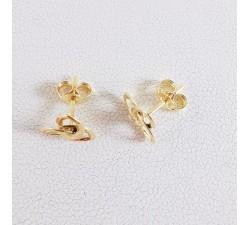 Boucles d'Oreilles Puces Triquètre Or Jaune