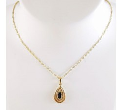 Collier Saphir Diamant Or Jaune (Bijou Occasion)
