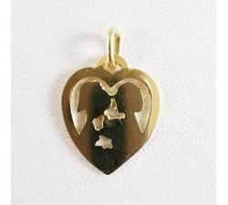 Pendentif Cœur Les Amoureux de Peynet Or Jaune