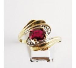 Bague Grenat Or jaune 750 - 18 carats (Bijou d'Occasion)
