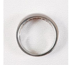 Demi alliance Diamants Or Blanc 750 - 18 carats (Bijou Occasion)