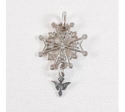 Croix Huguenote Or blanc 750 (18 carats)