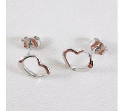 Boucles d'oreilles Coeur Argent