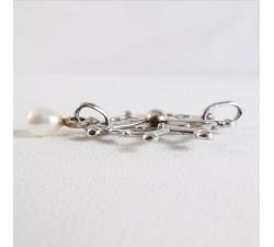 Croix Huguenote Perle Or Blanc 18 carats