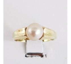 Bague Perle Or Jaune 750 - 18 carats (Bijou d'Occasion)