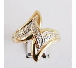 Bague Diamants Or Jaune 750 - 18 carats (Bijou d'Occasion)