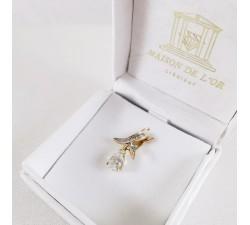 Pendentif Aigue Marine Diamants Or Jaune (Bijou Occasion)