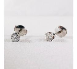 Boucles d'oreilles Diamants Or Blanc 18 carats