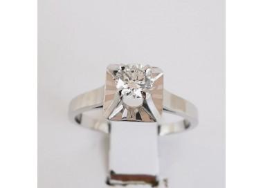 Bague de Fiançailles Diamants Or blanc 18 carats